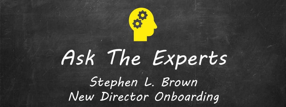 ATE Stephen L. Brown, New Director Onboarding