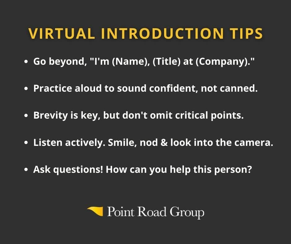 Tips to introduce yourself virtually
